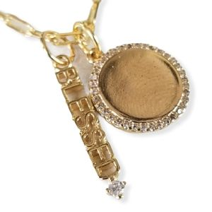 18k Gold Filled Dainty Paper Clip Charm Necklace
